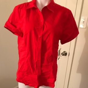 Red Liz Claiborne stretch top